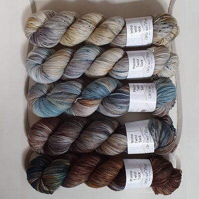 Merino Twist Sock - kit 5