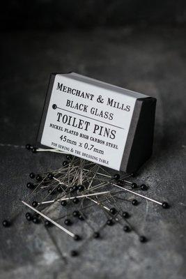 Merchant & Mills Black Glass Toilet Pins