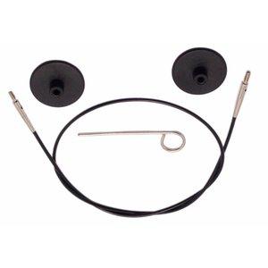 KnitPro kabel Zwart met zilverkleurige connectoren